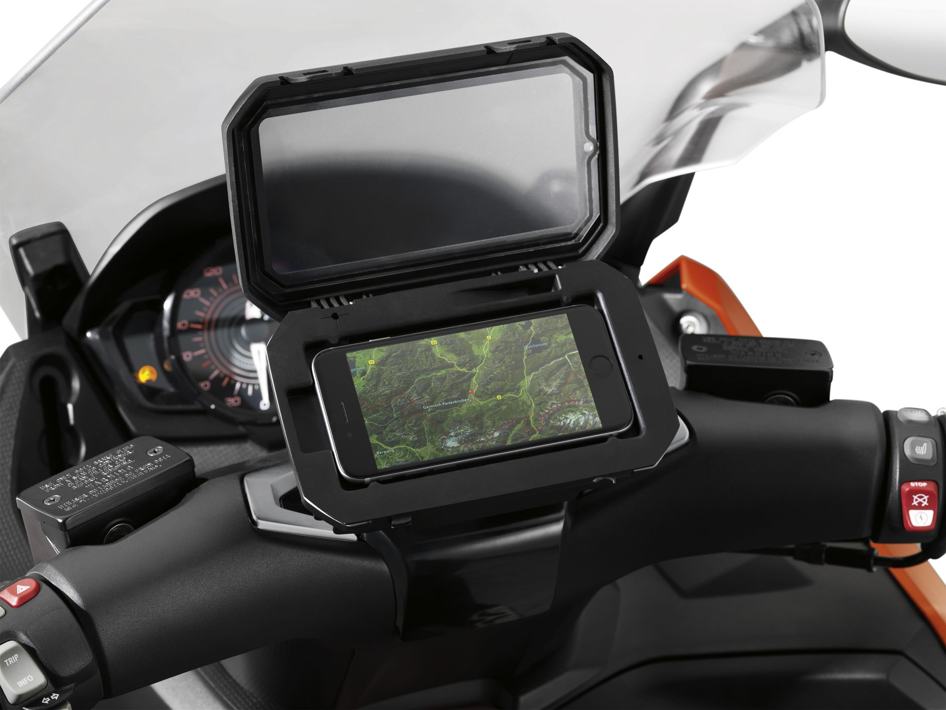 bmw motorrad smartphone cradle moto bmw. Black Bedroom Furniture Sets. Home Design Ideas