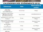 CALENDRIER DES EVENEMENTS 2019 - thumbnail #1