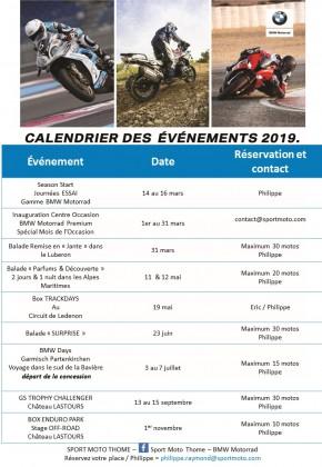CALENDRIER DES EVENEMENTS 2019 - large #1