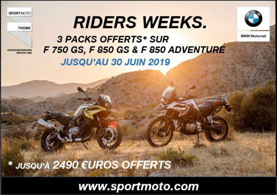 [RIDERS WEEKS] – « EDITION SPECIALE » : 3 PACKS OFFERTS* - large #1