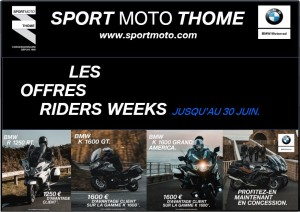 [LES OFFRES RIDERS WEEKS] – Gamme Tourer - medium